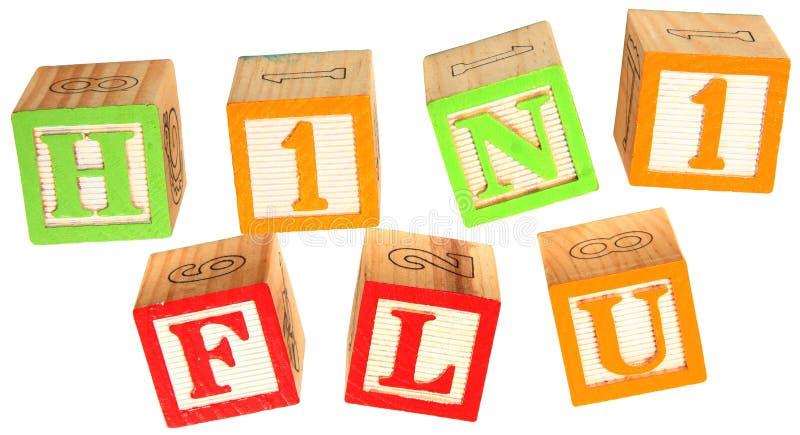 字母表阻拦流感h1n1 免版税库存图片