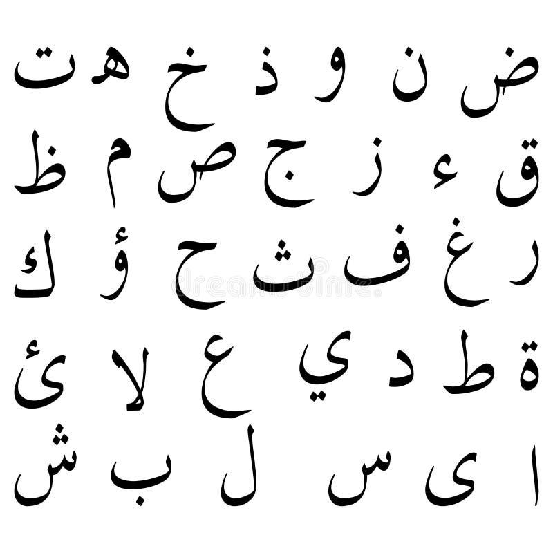 字母表阿拉伯语 库存例证