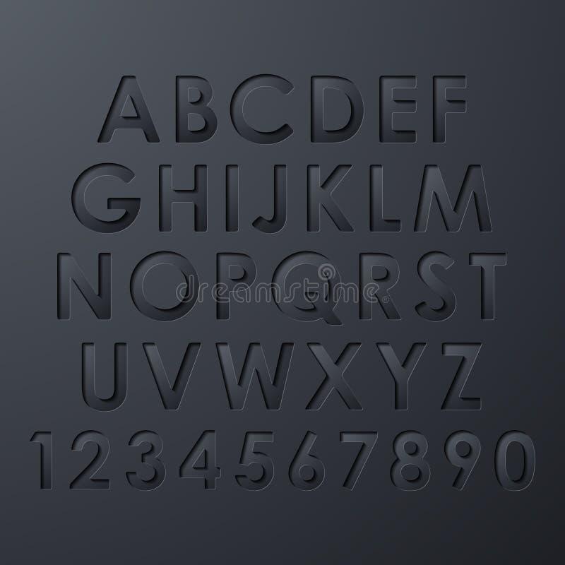 字母表集合 向量例证