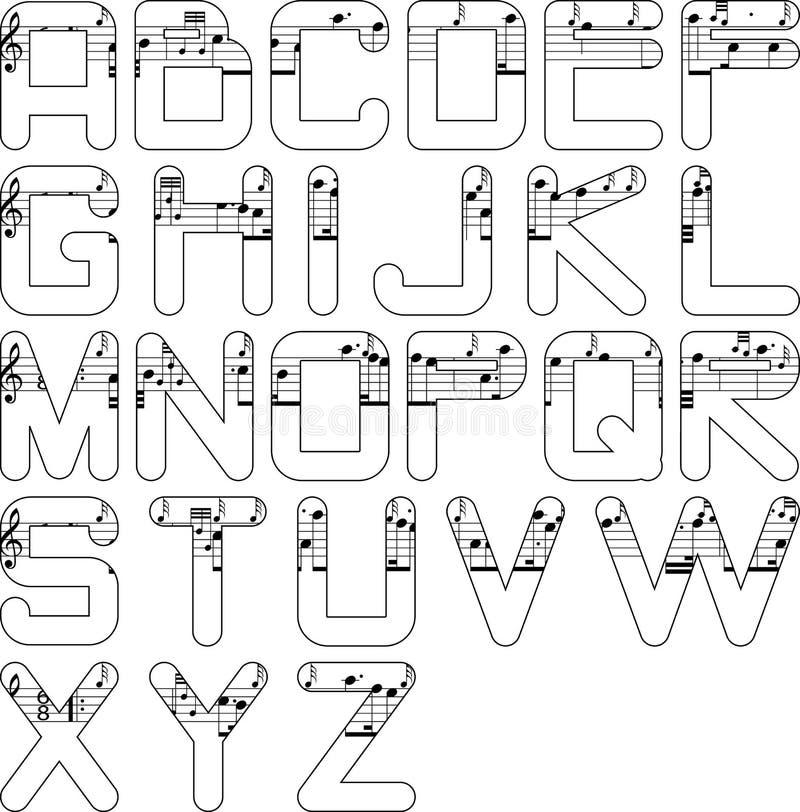 字母表音乐 皇族释放例证