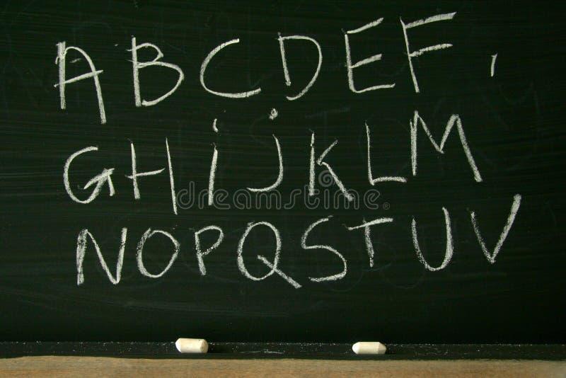 字母表黑板 免版税库存照片