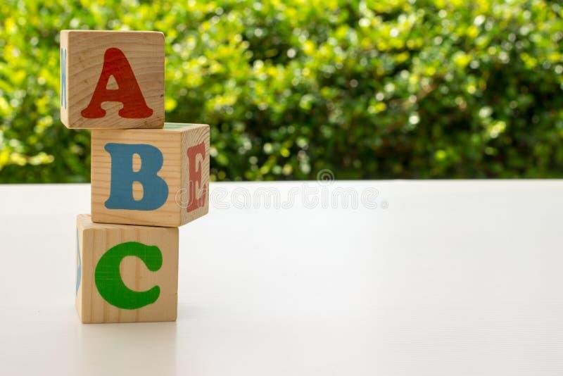 字母表阻拦ABC 库存照片