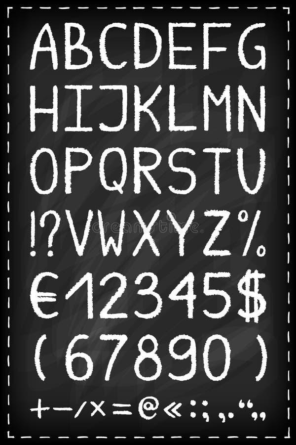 字母表黑板 向量例证