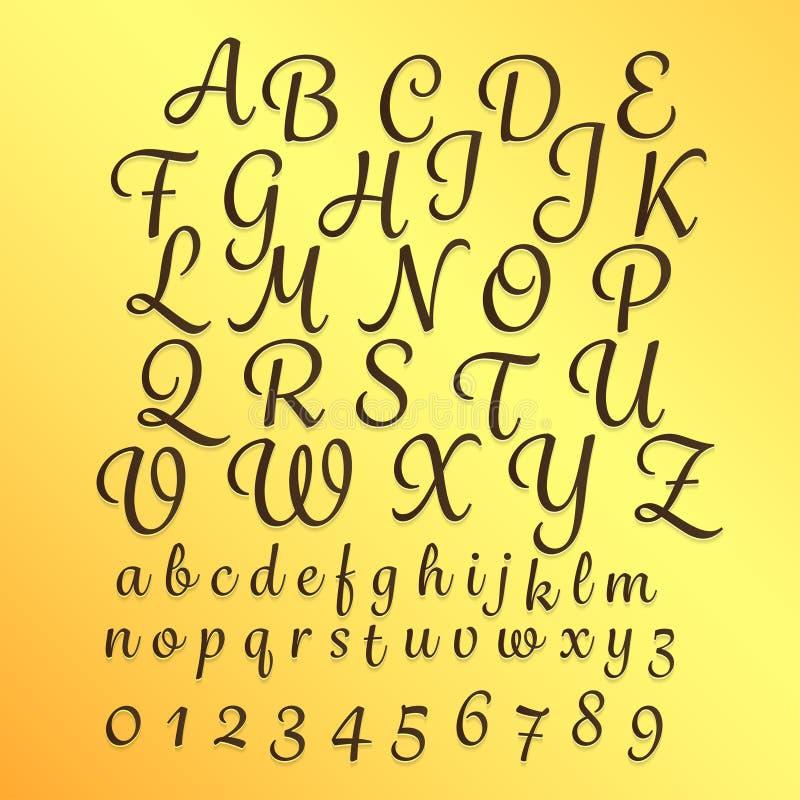 字母表 皇族释放例证