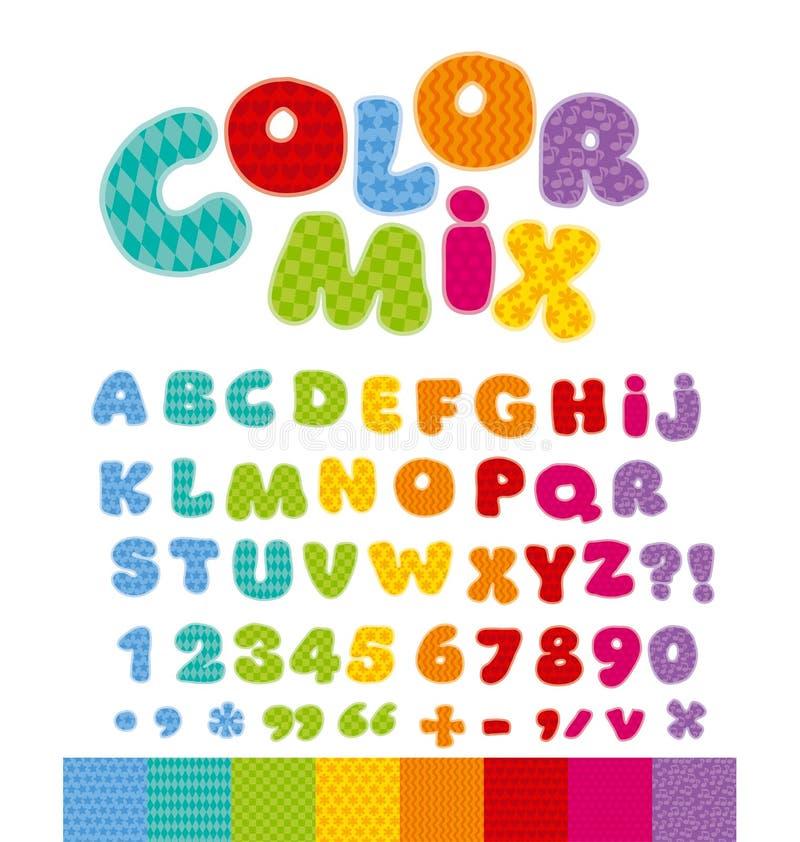字母表c儿童蜡笔滑稽的信函 向量例证