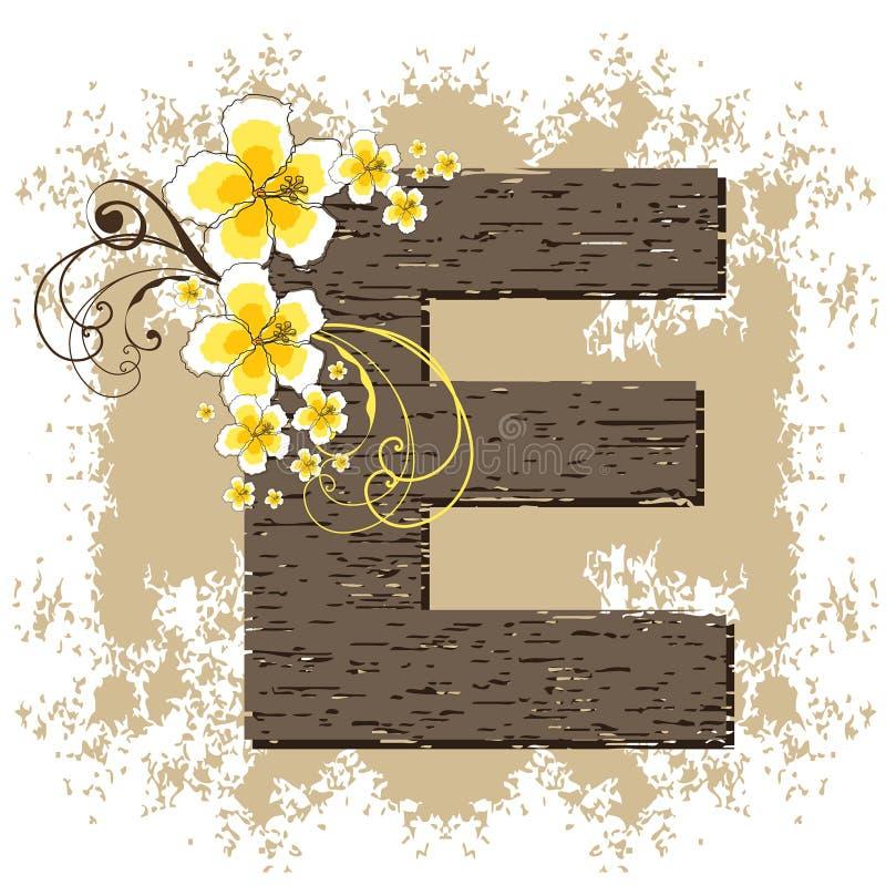 字母表e木槿黄色 皇族释放例证