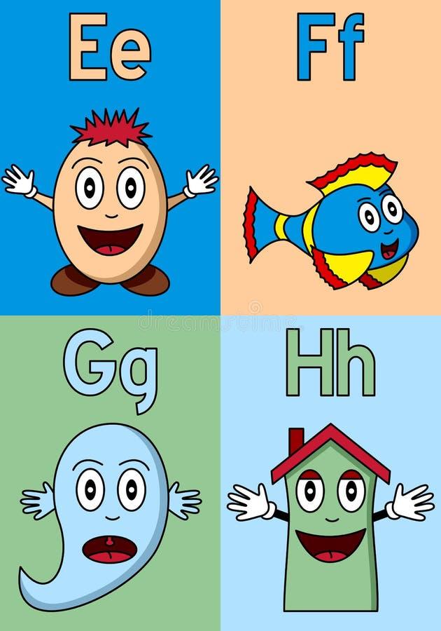 字母表e h幼稚园 皇族释放例证