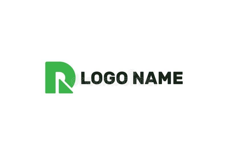 字母表R绿色商标设计 皇族释放例证
