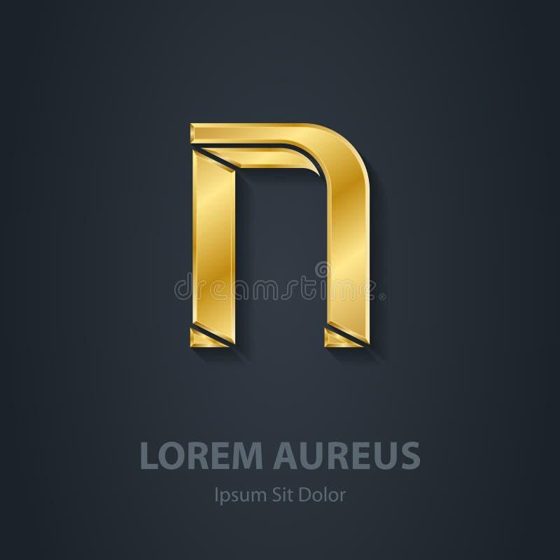 字母N 传染媒介典雅的金字体 公司商标的模板 d 库存例证