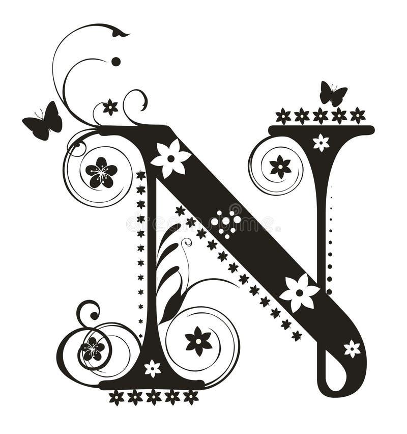 字母N 库存例证