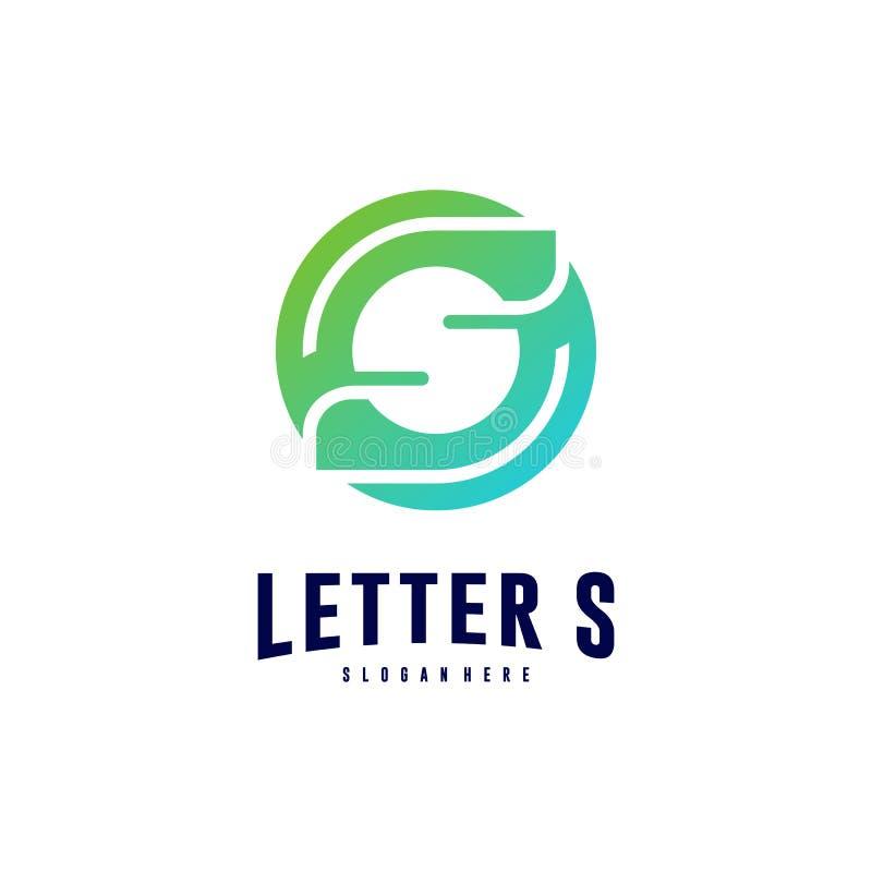 字母S商标象设计观念 最初的S商标模板传染媒介 r 向量例证