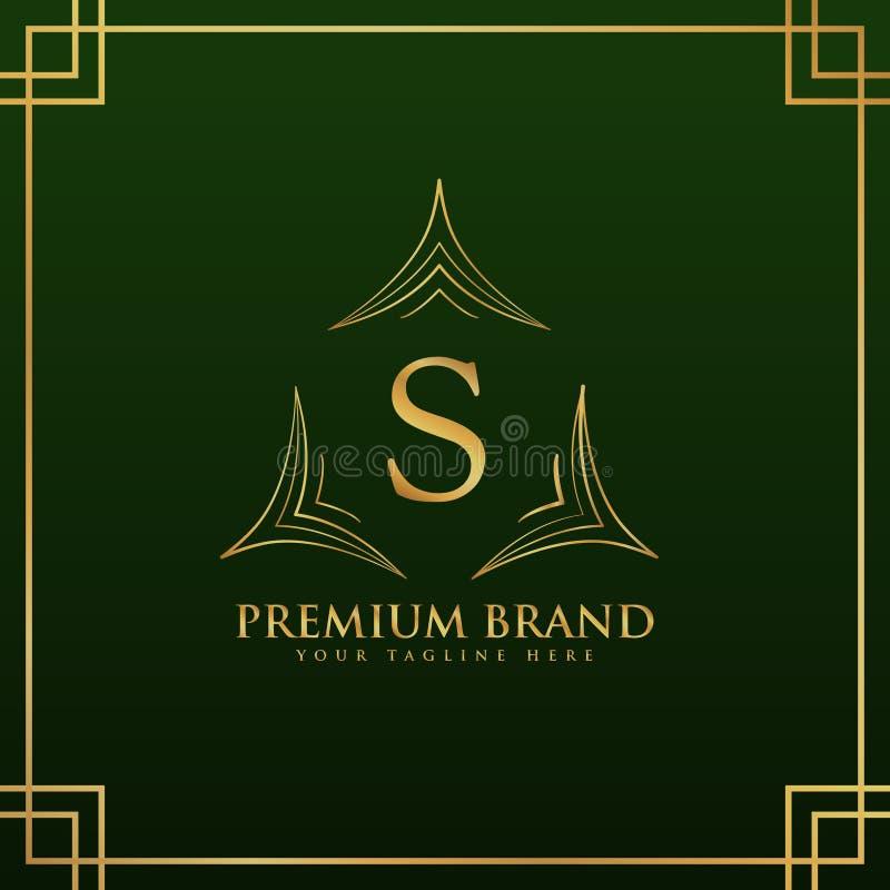 字母S组合图案在典雅式样的商标概念 向量例证