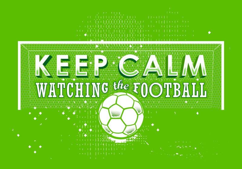 字法海报继续安静观看橄榄球 皇族释放例证