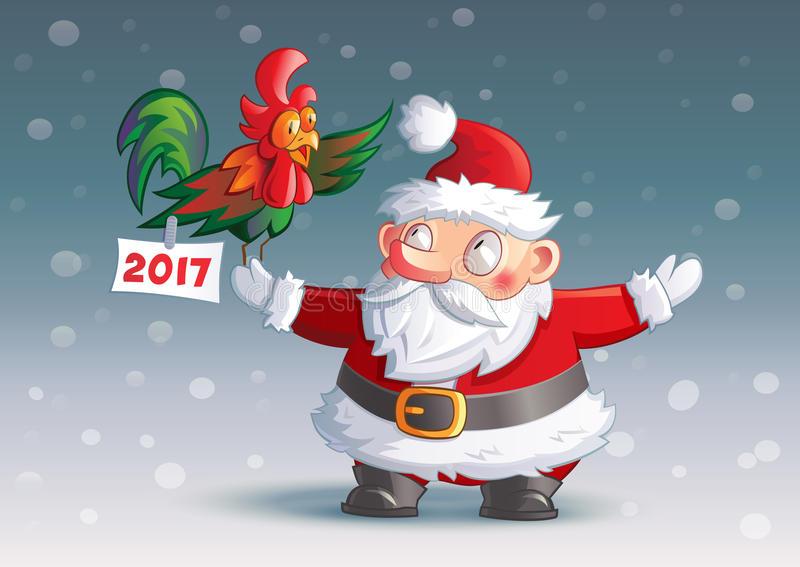 字符圣诞老人2017年 免版税库存图片