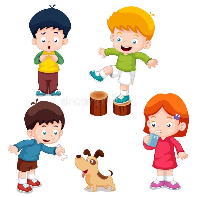 字符孩子动画片 库存例证
