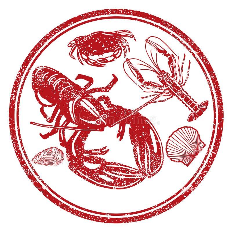 字符海鲜 向量例证