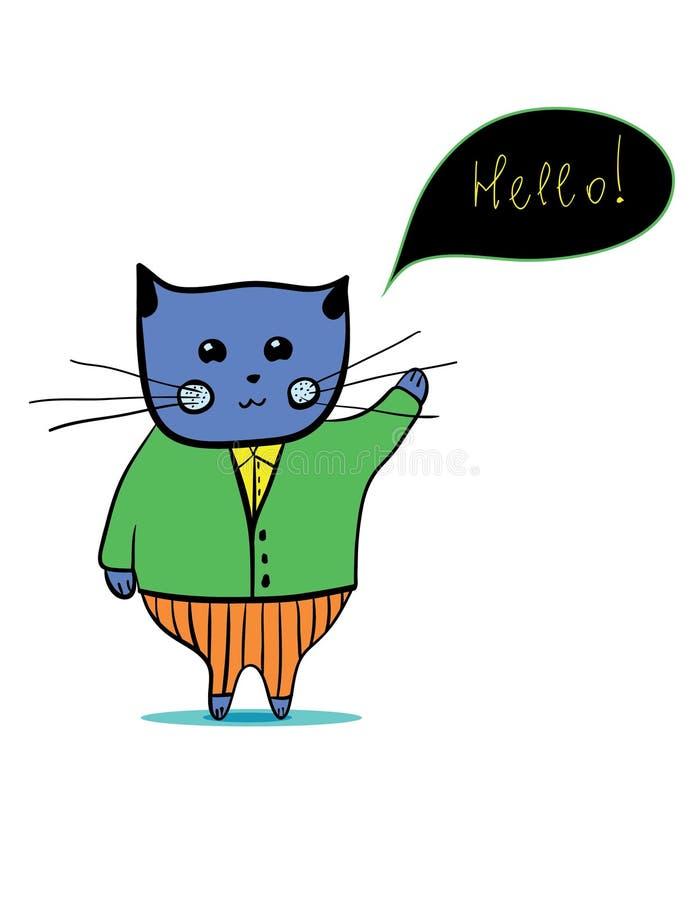 字符猫 免版税库存照片