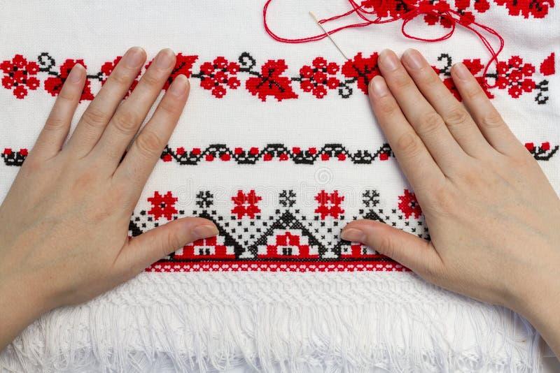 字符的乌克兰传统样式 图库摄影