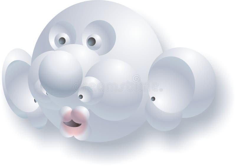 字符美妙的雪人 免版税库存图片
