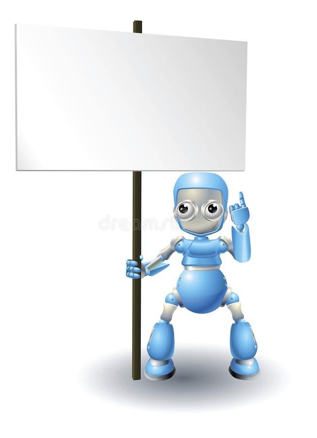 字符逗人喜爱的藏品机器人符号 向量例证