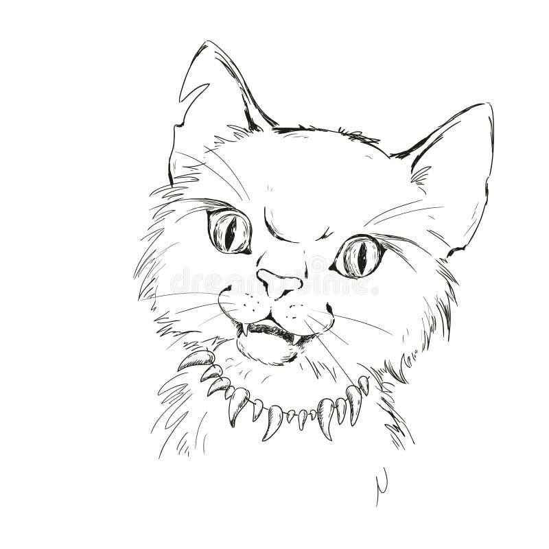 字符野生猫 凶恶猫 皇族释放例证