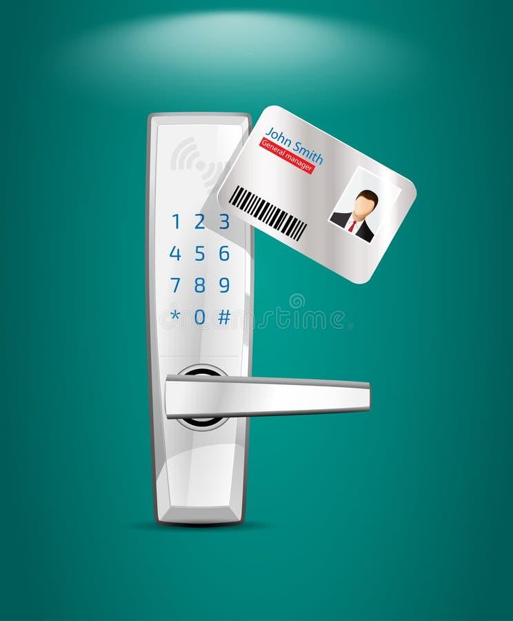 存取控制和管理系统 向量例证