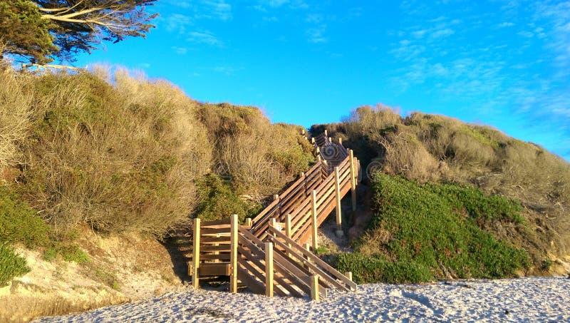 存取海滩 免版税图库摄影