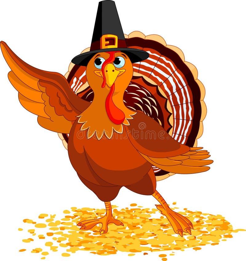 存在感恩火鸡 向量例证