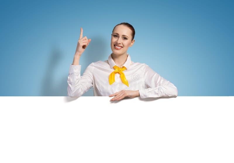 存在某事妇女 免版税库存图片