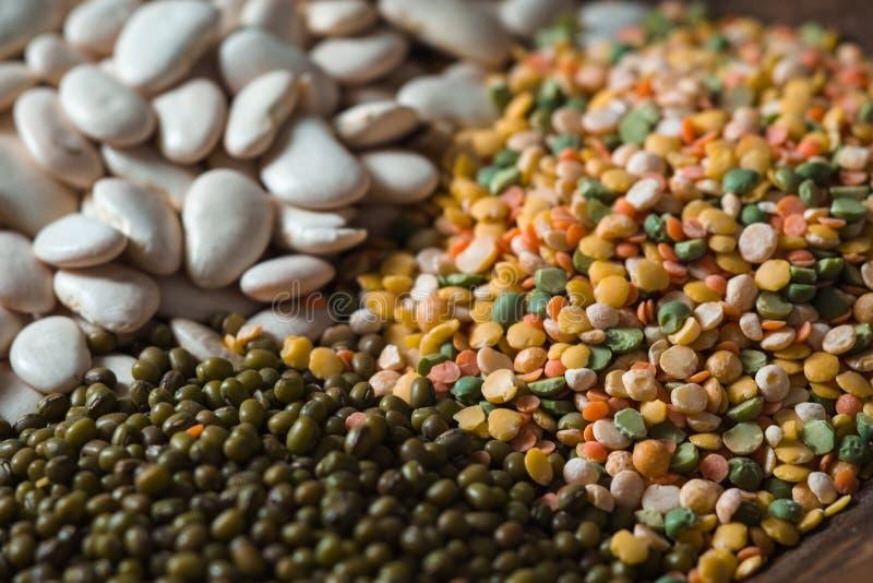存放人绿色和白豆,扁豆关闭  库存照片