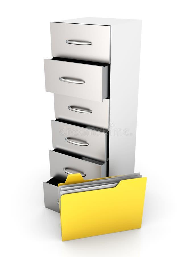 存档文件 库存例证