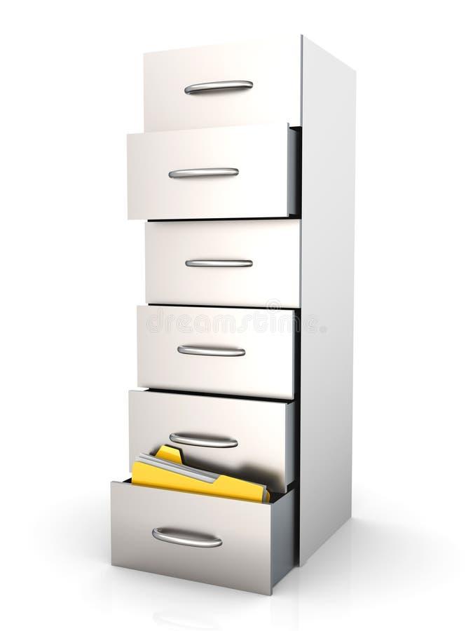 存档机柜归档 库存例证