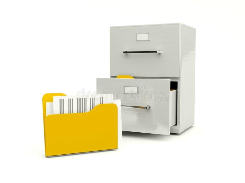 存档机柜文件夹 库存例证