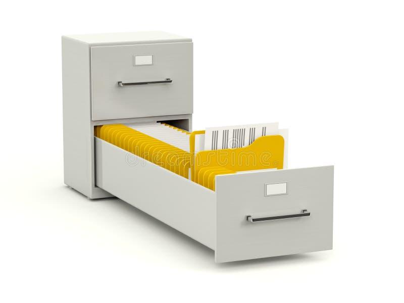 存档机柜文件夹 皇族释放例证
