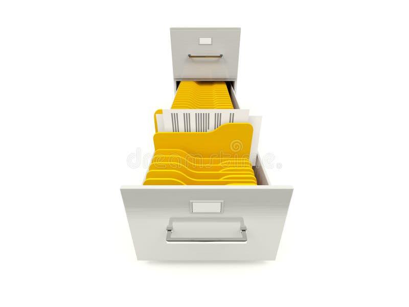 存档机柜文件夹 向量例证