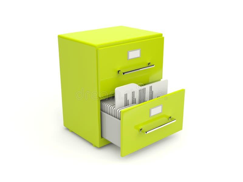 存档机柜绿色图标 向量例证