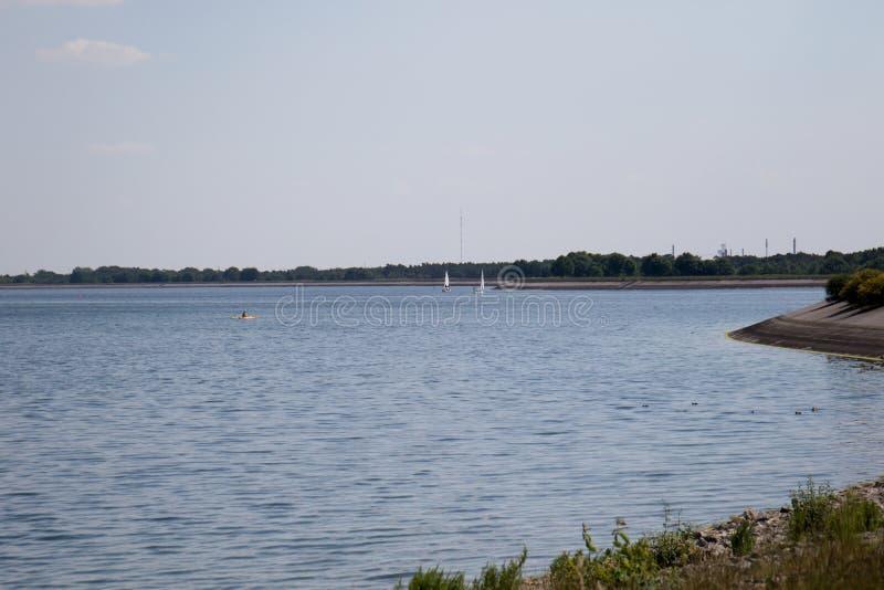 存贮海geeste德国的风景与蓝天和白色云彩的 库存照片
