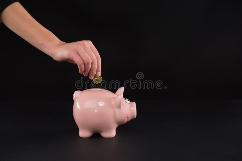 存钱罐。 库存照片