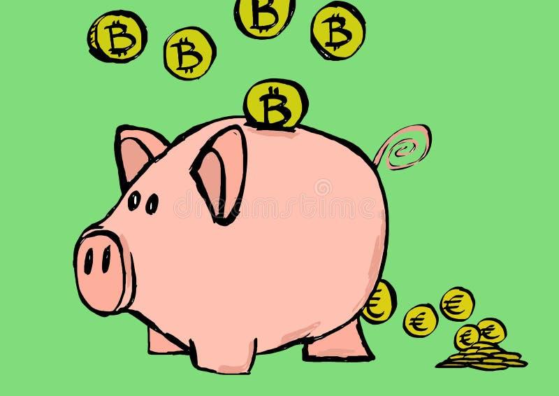 存钱罐图象 向量例证
