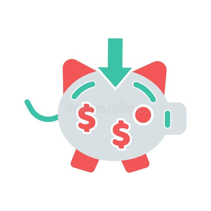 存钱罐或收入完善的象 您的网站或流动应用程序的完善的映象点传染媒介象 库存例证
