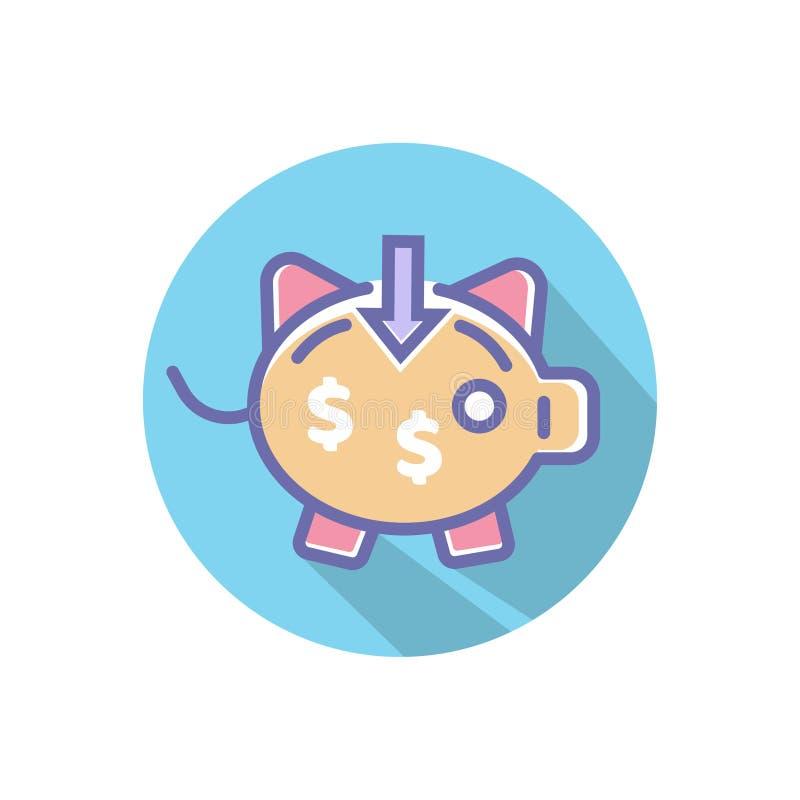 存钱罐或收入完善的象 您的网站或流动应用程序的完善的映象点传染媒介象 向量例证