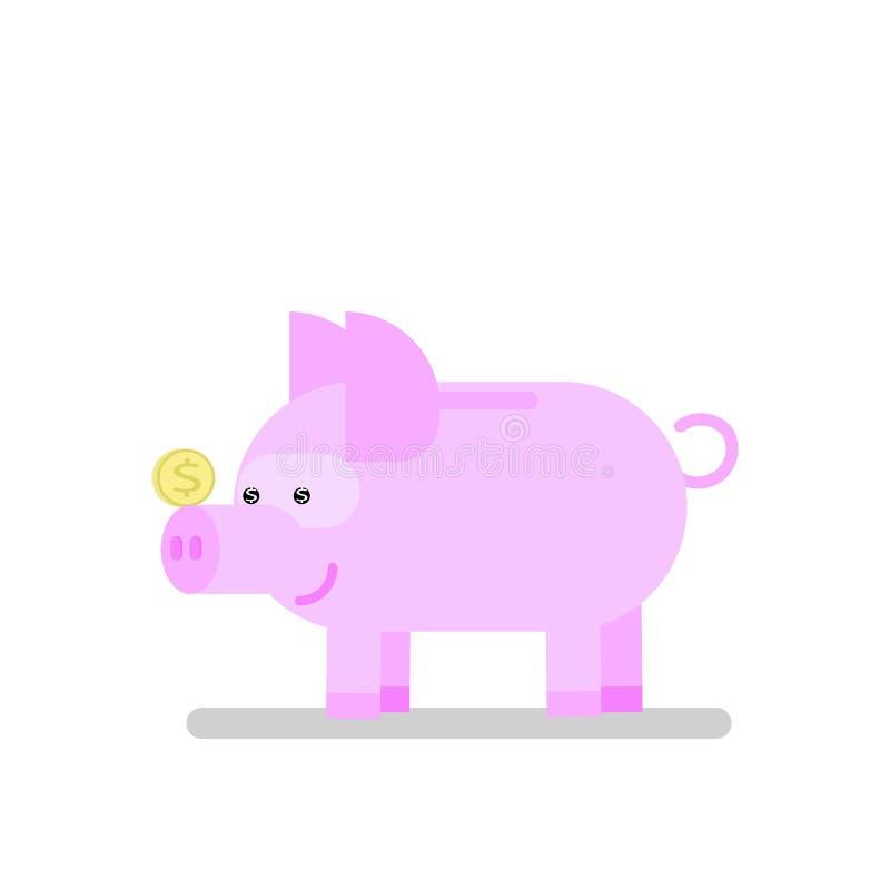 存钱罐象猪 库存例证