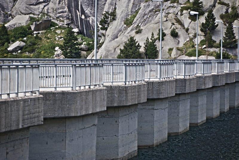 存贮水坝,西班牙 免版税库存图片