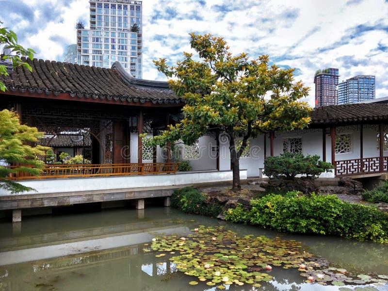 孙逸仙古典中国庭院,温哥华加拿大 图库摄影