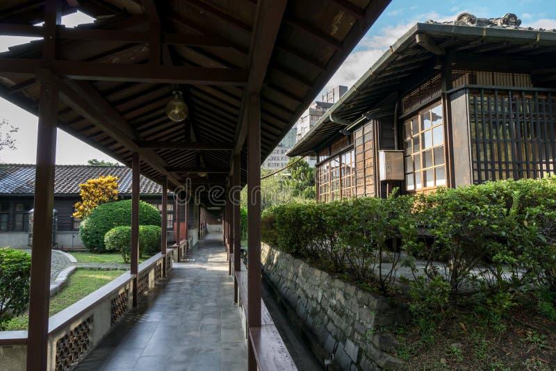孙逸仙纪念房子主要走廊  免版税库存图片