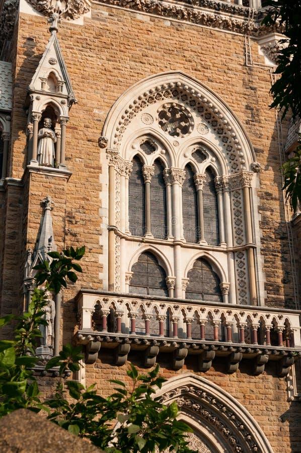 孟买在堡垒校园,孟买,印度的大学大厦 库存图片