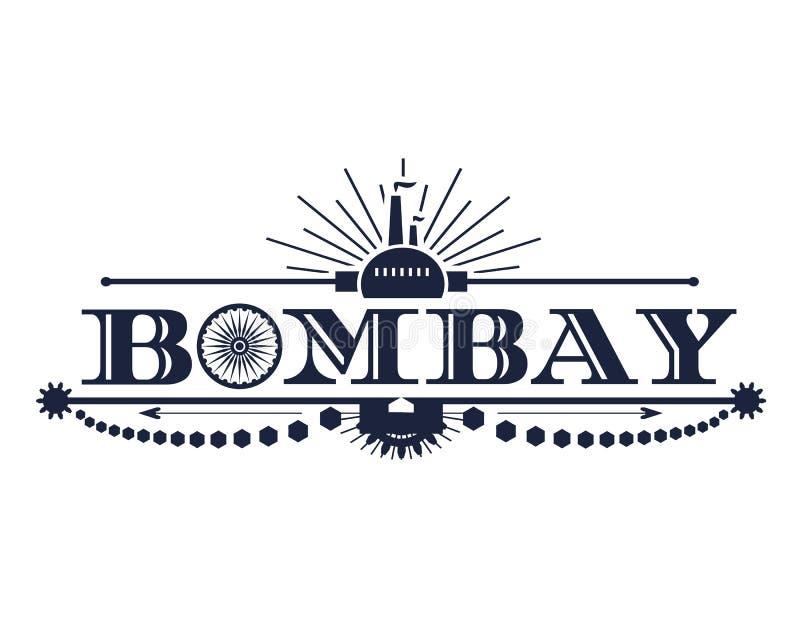 孟买市名字 皇族释放例证