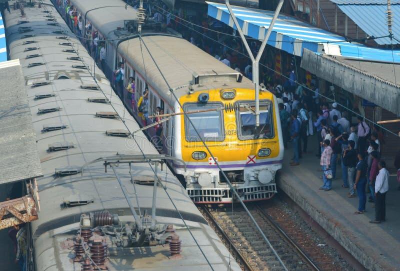 孟买火车 免版税图库摄影