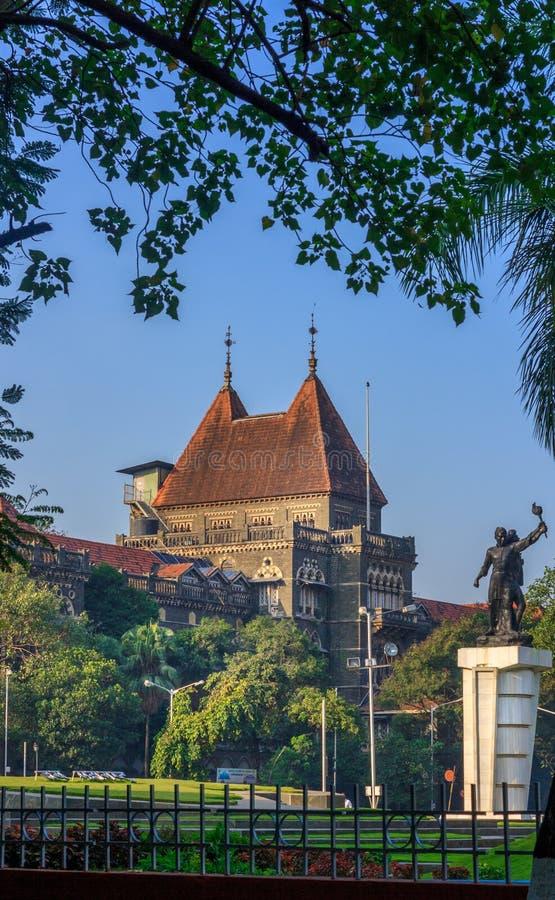 孟买,印度- 2014年12月12日:孟买高检署-一最旧的建筑学在仍然站立的孟买高 免版税库存照片