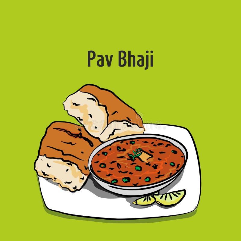 孟买pav bhaji例证 库存例证